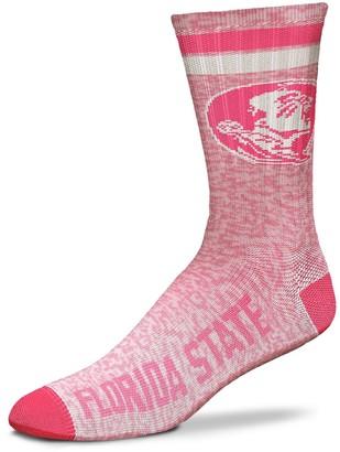 For Bare Feet Women's Florida State Seminoles Pretty in Pink Crew Socks
