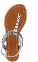 Charlotte Russe Wide Width Rhinestone T-Strap Sandals