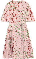 Valentino Floral-print Silk Crepe De Chine Dress - Pink