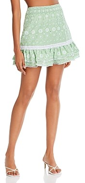 Charo Ruiz Ibiza Humy Cotton Eyelet Mini Skirt