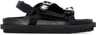 Sacai sequin strap sandals