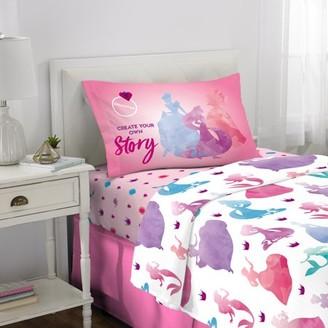 Disney Princess Sheet Set, Kids Bedding, 3-Piece Twin Size