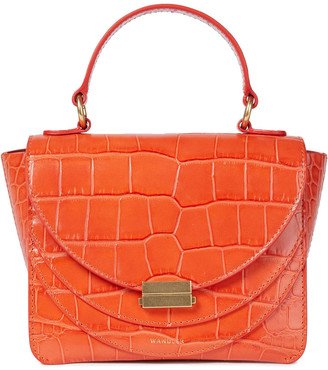 Wandler Luna Mini Croc-effect Leather Tote