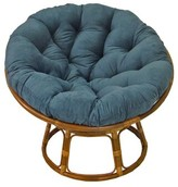 Beachcrest Home Decker Papasan Chair Fabric: Black Microfiber