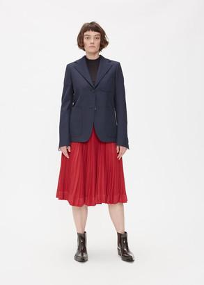 Calvin Klein Women's Double Closure Blazer Jacket in Navy Size 40 Polyester/Viscose/Cotton