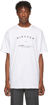 Raf Simons White Big-Fit Diptych T-Shirt