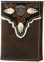 Ariat Shield Ivory Trifold Wallet