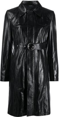 Maison Margiela Leather Belted Coat