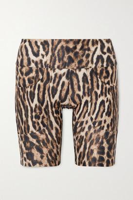 Twin Fantasy Leopard-print Stretch Shorts - Brown