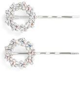 Tasha Set Of 2 Crystal Flower Wreath Bobby Pins
