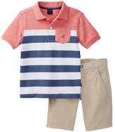 Nautica 2-Piece Striped Polo & Short Set (Toddler Boys)