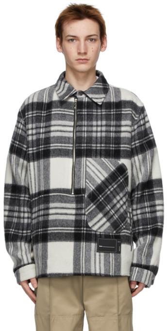 we11done Grey Wool Anorak Shirt