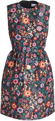 RED Valentino Flared Floral-print Faille Mini Dress