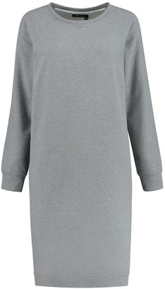 Eva D. Dolly Sweater Dress Of Grey Organic Cotton