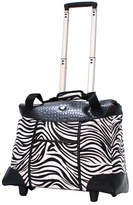 Olympia Deluxe Fashion Rolling Tote - Zebra Duffel Bags