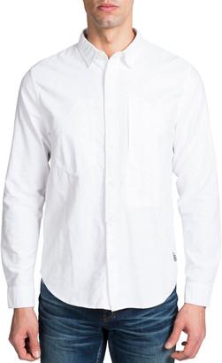 PRPS Men's Long-Sleeve Woven Sport Shirt
