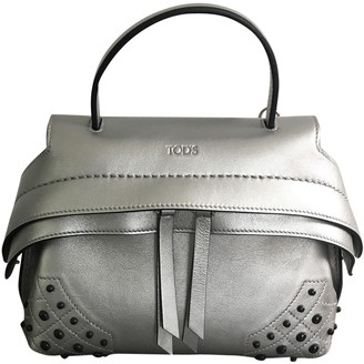 Tod's Wave Silver Leather Handbags