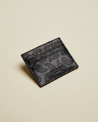 Ted Baker NOVCARD Leather paisley cardholder