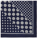 Barneys New York MEN'S DOT-PRINT WOOL POCKET SQUARE