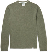 Norse Projects Sigfred Brushed-wool Sweater - Green