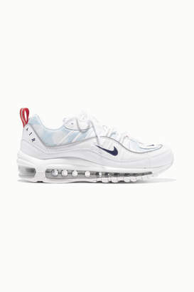 Nike Air Max 98 Mesh And Faux Leather Sneakers - White