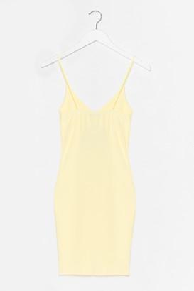 Nasty Gal Womens Textured Low Back Bodycon Midi Dress - Yellow - 10