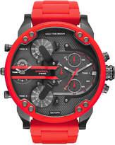 Diesel Men's Chronograph Mr. Daddy 2.0 Red Silicone Strap Watch 55x66mm DZ7370
