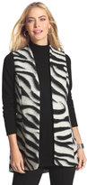 Chico's Bi-Color Zebra-Print Vest