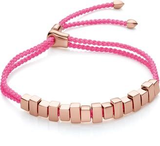 Monica Vinader RP Linear Fluoro Pink Ingot Bracelet