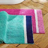 Color Block Bath Mat, Girl, Pool/ Royal Navy, One Size