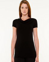 Le Château Cowl Neck Short Sleeve Sweater