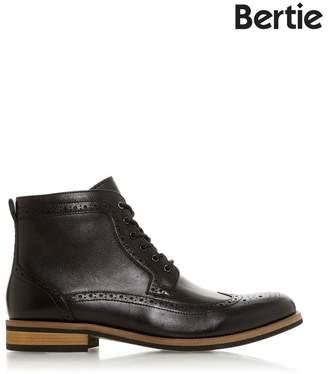 Bertie Mens Brogue Boots - Black