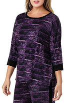 DKNY Plus Abstract Jersey Sleep Top