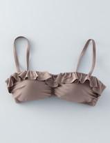Boden Ruffle Bandeau Bikini Top