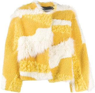 MSGM Asymmetrical Soft Textured Jacket