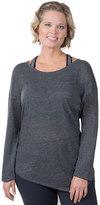 Soybu Plus Size Skyla Asymmetrical Scoopneck Sweater