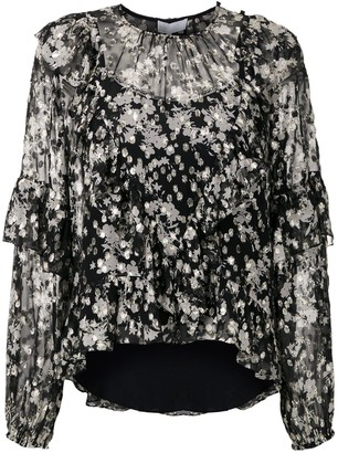 Nk Floral Ruffled Blouse