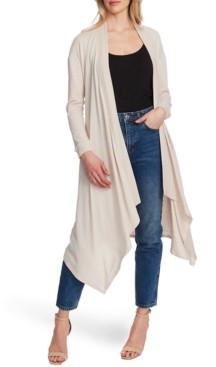 1 STATE Drape-Front Maxi Cardigan Sweater