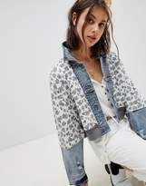 Free People Quilted Ditsy Denim Jacket