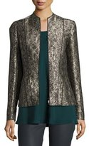 Lafayette 148 New York Eliza Paneled Brocade Jacket, Petrol Multi