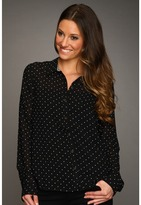 Volcom Not So Classic L/S Button Up Top (Black) - Apparel