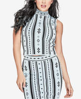 GUESS Gia Printed Sleeveless Sweater