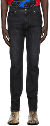 we11done Black Embossed Pocket Jeans