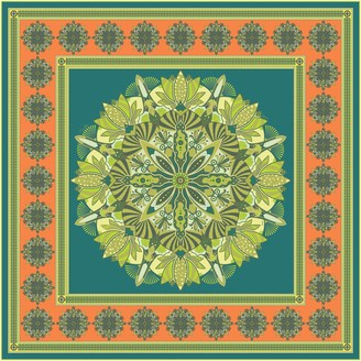 Gisy Tree Mandala Square Silk Twill Scarf