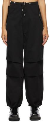 Dion Lee Black Cotton Parachute Trousers