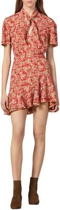 Sandro Paisley-Print Mini A-Line Dress