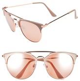 BP Women's Retro Sunglasses - Nude/ Rose Gold