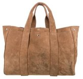Theory Suede Signature Tote
