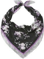 Joe Fresh Women's Floral Scarf, Black (Size O/S)