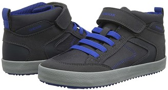Geox Kids Jr Alonisso 41 (Big Kid) (Dark Grey/Royal) Boys Shoes